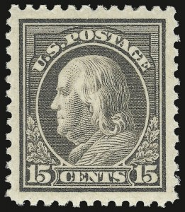 Sale Number 932, Lot Number 256, 1917-19 Issue (Scott 498 to 518)15c Gray (514), 15c Gray (514)