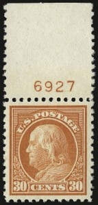Sale Number 932, Lot Number 258, 1917-19 Issue (Scott 498 to 518)30c Orange Red (516), 30c Orange Red (516)