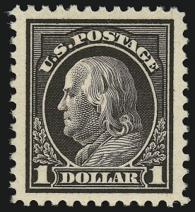 Sale Number 932, Lot Number 261, 1917-19 Issue (Scott 498 to 518)$1.00 Violet Black (518 var), $1.00 Violet Black (518 var)