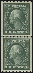Sale Number 932, Lot Number 94, 1912 Coil Issue (Scott 410 to 413)1c Green, Coil (410), 1c Green, Coil (410)