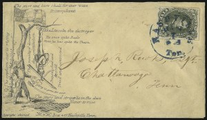 Sale Number 933, Lot Number 978, General Issues On Cover5c Green, Stone A-B (1c), 5c Green, Stone A-B (1c)