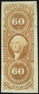 Sale Number 934, Lot Number 2147, First Issue Revenues 60c Inland Exchange, Imperforate (R64a), 60c Inland Exchange, Imperforate (R64a)