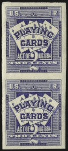 Sale Number 934, Lot Number 2365, Playing Cards Stamps2c Ultramarine, Playing Cards, Imperforate (RF2b), 2c Ultramarine, Playing Cards, Imperforate (RF2b)