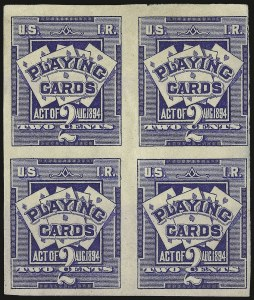 Sale Number 934, Lot Number 2367, Playing Cards Stamps2c Ultramarine, Playing Cards, Imperforate (RF2b), 2c Ultramarine, Playing Cards, Imperforate (RF2b)