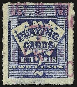 Sale Number 934, Lot Number 2369, Playing Cards Stamps7c on 2c Blue, Playing Cards (RF5), 7c on 2c Blue, Playing Cards (RF5)