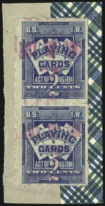 Sale Number 934, Lot Number 2370, Playing Cards Stamps7c on 2c Blue, Playing Cards (RF5), 7c on 2c Blue, Playing Cards (RF5)