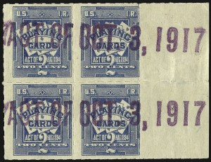 Sale Number 934, Lot Number 2376, Playing Cards Stamps7c on 2c Blue, Playing Cards, Los Angeles Surcharge (RF5 var), 7c on 2c Blue, Playing Cards, Los Angeles Surcharge (RF5 var)