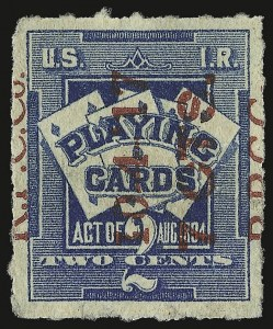 Sale Number 934, Lot Number 2379, Playing Cards Stamps7c on 2c Blue, Playing Cards (RF8), 7c on 2c Blue, Playing Cards (RF8)