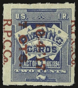 Sale Number 934, Lot Number 2380, Playing Cards Stamps7c on 2c Blue, Playing Cards (RF8), 7c on 2c Blue, Playing Cards (RF8)