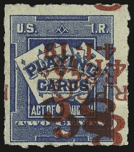 Sale Number 934, Lot Number 2395, Playing Cards Stamps8c on 2c Blue, Playing Cards, Inverted Double Surcharge (RF15a), 8c on 2c Blue, Playing Cards, Inverted Double Surcharge (RF15a)