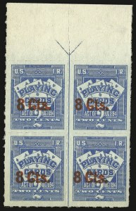 Sale Number 934, Lot Number 2396, Playing Cards Stamps8c on 2c Blue, Playing Cards (RF16), 8c on 2c Blue, Playing Cards (RF16)