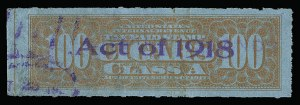 Sale Number 934, Lot Number 2666, Cigar StampsCigar Stamps, Series of 1917, 1918 Provisional Issue and 1918-20 Issue, Cigar Stamps, Series of 1917, 1918 Provisional Issue and 1918-20 Issue