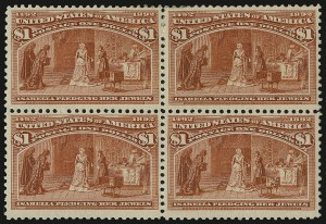 Sale Number 935, Lot Number 14, Columbian Issue$1.00 Columbian (241), $1.00 Columbian (241)