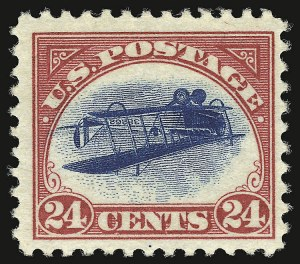 Sale Number 935, Lot Number 177, Air Post24c Carmine Rose & Blue, Center Inverted (C3a), 24c Carmine Rose & Blue, Center Inverted (C3a)
