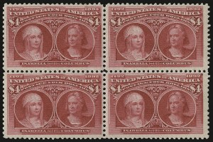 Sale Number 935, Lot Number 18, Columbian Issue$4.00 Columbian (244), $4.00 Columbian (244)