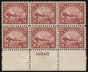 Sale Number 935, Lot Number 180, Air Post24c Carmine, 1923 Air Post (C6), 24c Carmine, 1923 Air Post (C6)