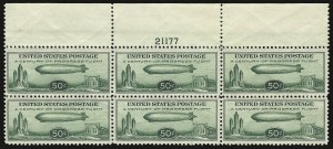 Sale Number 935, Lot Number 182, Air Post50c Chicago Zeppelin (C18), 50c Chicago Zeppelin (C18)