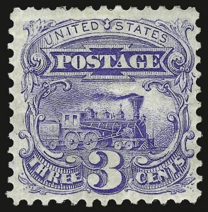 Sale Number 937, Lot Number 119, 1875 Re-Issue of 1869 Pictorial Issue3c Blue, Re-Issue (125), 3c Blue, Re-Issue (125)