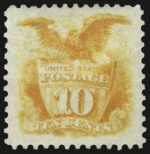 Sale Number 937, Lot Number 120, 1875 Re-Issue of 1869 Pictorial Issue10c Yellow, Re-Issue (127), 10c Yellow, Re-Issue (127)