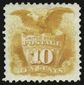 Sale Number 937, Lot Number 121, 1875 Re-Issue of 1869 Pictorial Issue10c Yellow, Re-Issue (127), 10c Yellow, Re-Issue (127)