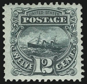 Sale Number 937, Lot Number 122, 1875 Re-Issue of 1869 Pictorial Issue12c Green, Re-Issue (128), 12c Green, Re-Issue (128)