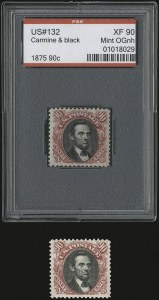 Sale Number 937, Lot Number 126, 1875 Re-Issue of 1869 Pictorial Issue90c Carmine & Black, Re-Issue (132), 90c Carmine & Black, Re-Issue (132)