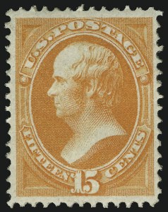 Sale Number 937, Lot Number 145, 1870-71 National Bank Note Co. Grilled Issue15c Orange, Grill (141), 15c Orange, Grill (141)