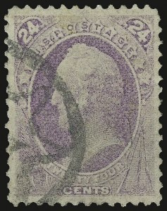 Sale Number 937, Lot Number 146, 1870-71 National Bank Note Co. Grilled Issue24c Purple, Grill (142), 24c Purple, Grill (142)