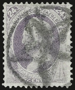Sale Number 937, Lot Number 147, 1870-71 National Bank Note Co. Grilled Issue24c Purple, Grill (142), 24c Purple, Grill (142)