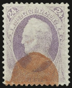 Sale Number 937, Lot Number 148, 1870-71 National Bank Note Co. Grilled Issue24c Purple, Grill (142), 24c Purple, Grill (142)