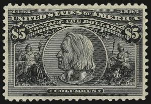 Sale Number 937, Lot Number 193, Columbian Issue$5.00 Columbian (245), $5.00 Columbian (245)