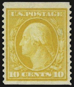 Sale Number 937, Lot Number 228, Washington-Franklin and Commemorative Issues10c Yellow, Coil (356), 10c Yellow, Coil (356)