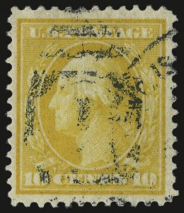 Sale Number 937, Lot Number 231, Washington-Franklin and Commemorative Issues10c Yellow, Bluish (364), 10c Yellow, Bluish (364)