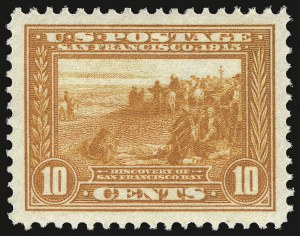 Sale Number 937, Lot Number 238, Washington-Franklin and Commemorative Issues10c Orange, Panama-Pacific (400A), 10c Orange, Panama-Pacific (400A)