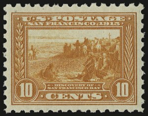 Sale Number 937, Lot Number 239, Washington-Franklin and Commemorative Issues10c Panama-Pacific, Perf 10 (404), 10c Panama-Pacific, Perf 10 (404)
