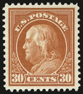Sale Number 937, Lot Number 241, Washington-Franklin and Commemorative Issues30c Orange Red (420), 30c Orange Red (420)