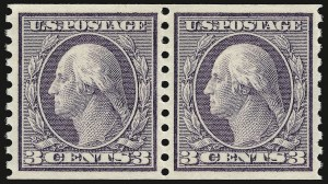 Sale Number 937, Lot Number 248, Washington-Franklin and Commemorative Issues3c Violet, Coil (456), 3c Violet, Coil (456)