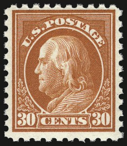 Sale Number 937, Lot Number 249, Washington-Franklin and Commemorative Issues30c Orange Red, Perf 10 (476A), 30c Orange Red, Perf 10 (476A)