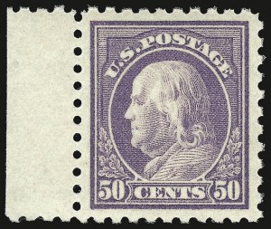 Sale Number 937, Lot Number 250, Washington-Franklin and Commemorative Issues50c Light Violet (477), 50c Light Violet (477)