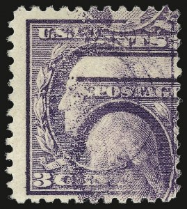 Sale Number 937, Lot Number 257, Washington-Franklin and Commemorative Issues3c Light Violet, Ty. I, Double Impression (501d), 3c Light Violet, Ty. I, Double Impression (501d)