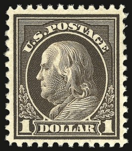 Sale Number 937, Lot Number 262, Washington-Franklin and Commemorative Issues$1.00 Deep Brown (518b), $1.00 Deep Brown (518b)