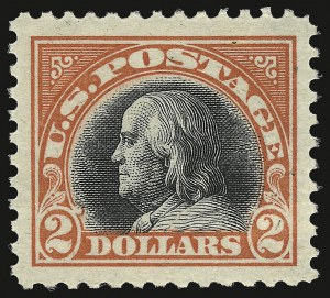 Sale Number 937, Lot Number 264, Washington-Franklin and Commemorative Issues$2.00 Orange Red & Black (523), $2.00 Orange Red & Black (523)