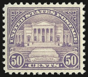 Sale Number 937, Lot Number 276, 1922 and Later Issues50c Lilac (570), 50c Lilac (570)