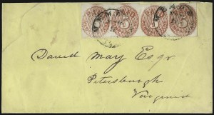 Sale Number 937, Lot Number 359, Confederate StatesMemphis Tenn., 5c Red (56X2), Memphis Tenn., 5c Red (56X2)