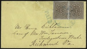 Sale Number 937, Lot Number 361, Confederate StatesNashville Tenn., 5c Violet Brown (61X5), Nashville Tenn., 5c Violet Brown (61X5)
