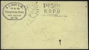 Sale Number 937, Lot Number 365, Confederate StatesNew Orleans La., 5c Black entire (62XU1), New Orleans La., 5c Black entire (62XU1)