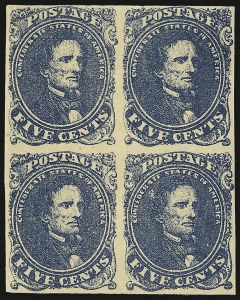 Sale Number 937, Lot Number 371, Confederate States5c Dark Blue, Stone 3 (4a), 5c Dark Blue, Stone 3 (4a)