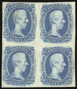 "Sale Number 937, Lot Number 374, Confederate States10c Blue, ""TEN"" (9), 10c Blue, ""TEN"" (9)"