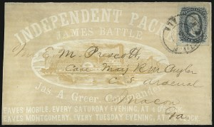 Sale Number 937, Lot Number 377, Confederate States10c Greenish Blue, Die A (11c), 10c Greenish Blue, Die A (11c)