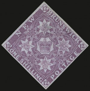 Sale Number 937, Lot Number 419, Foreign CountriesNEW BRUNSWICK, 1851, 1sh Bright Red Violet (3; SG 5), NEW BRUNSWICK, 1851, 1sh Bright Red Violet (3; SG 5)